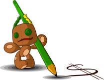 κουρέλι μολυβιών κουκ&lam διανυσματική απεικόνιση