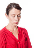Κουρασμένη γυναίκα που στέκεται με κλειστό το μάτια ύπνο Στοκ φωτογραφίες με δικαίωμα ελεύθερης χρήσης
