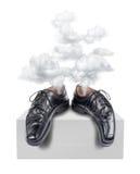 Κουρασμένη εξαγωγή επιχειρησιακών παπουτσιών απεικόνιση αποθεμάτων