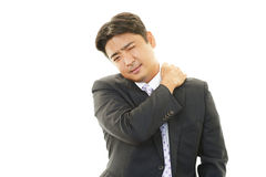 Κουρασμένος ασιατικός επιχειρηματίας Στοκ εικόνα με δικαίωμα ελεύθερης χρήσης