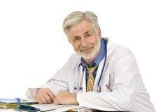 Κουρασμένος αλλά ικανοποιημένος γιατρός Στοκ Εικόνες