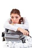 Κουρασμένος γραμματέας στοκ φωτογραφία με δικαίωμα ελεύθερης χρήσης