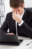 Κουρασμένος επιχειρηματίας Στοκ φωτογραφία με δικαίωμα ελεύθερης χρήσης