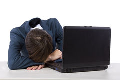 Κουρασμένος εργαζόμενος Στοκ Εικόνες