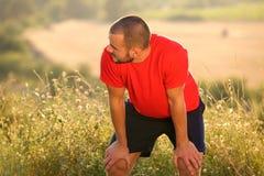 Κουρασμένος μετά από την άσκηση workout Στοκ εικόνα με δικαίωμα ελεύθερης χρήσης
