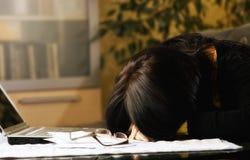 Κουρασμένος σπουδαστής Στοκ Εικόνες