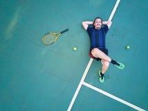 Κουρασμένος τενίστας Στοκ εικόνες με δικαίωμα ελεύθερης χρήσης