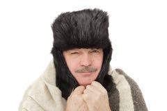Κουρασμένος του κρύου ή της ασθένειας Στοκ φωτογραφία με δικαίωμα ελεύθερης χρήσης