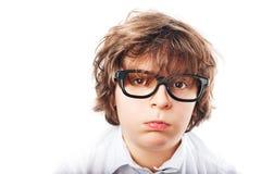 Κουρασμένο αγόρι με τα γυαλιά Στοκ φωτογραφίες με δικαίωμα ελεύθερης χρήσης