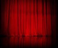 Κουρτίνα ή drapes κόκκινο υπόβαθρο Στοκ φωτογραφία με δικαίωμα ελεύθερης χρήσης