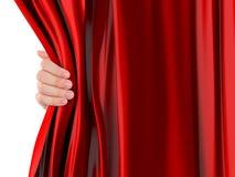 Κουρτίνα ανοίγματος χεριών Στοκ φωτογραφία με δικαίωμα ελεύθερης χρήσης