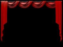 κουρτίνα θεατρική Στοκ φωτογραφία με δικαίωμα ελεύθερης χρήσης