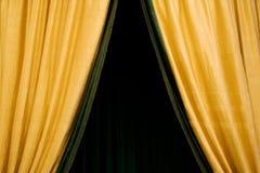 κουρτίνα χρυσή Στοκ Εικόνα