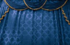 κουρτίνα bluestage Στοκ Φωτογραφία