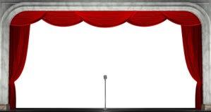 Κουρτίνες που απομονώνονται κόκκινες τρισδιάστατος δώστε Στοκ Εικόνες