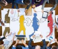 Κουρδίστε την αναγκασμένη διαχείριση παίρνει την έννοια Brainwashed ελέγχου Στοκ εικόνα με δικαίωμα ελεύθερης χρήσης