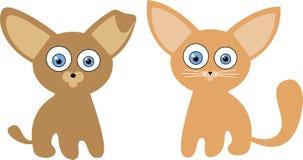 κουτάβι γατακιών απεικόνισης Στοκ φωτογραφίες με δικαίωμα ελεύθερης χρήσης