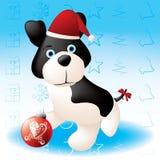 κουτάβι Χριστουγέννων Ελεύθερη απεικόνιση δικαιώματος