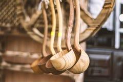 κουτάλια ξύλινα Στοκ Φωτογραφία