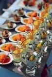 κουτάλια πρόχειρων φαγητών θαλασσινών γυαλιών Στοκ εικόνα με δικαίωμα ελεύθερης χρήσης