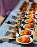 κουτάλια πρόχειρων φαγητών θαλασσινών Στοκ εικόνες με δικαίωμα ελεύθερης χρήσης