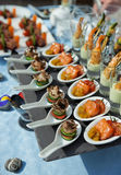 κουτάλια πρόχειρων φαγητών θαλασσινών Στοκ Εικόνα
