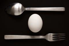 κουτάλι δικράνων αυγών Στοκ Εικόνα