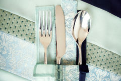 κουτάλι μαχαιριών δικράνων Στοκ φωτογραφία με δικαίωμα ελεύθερης χρήσης