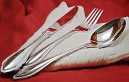 κουτάλι μαχαιριών δικράνων στοκ εικόνα