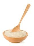 κουτάλι ρυζιού πιάτων Στοκ εικόνες με δικαίωμα ελεύθερης χρήσης