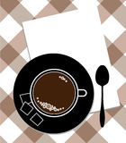 κουτάλι φλυτζανιών καφέ Στοκ Φωτογραφίες