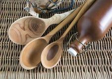 κουτάλια ξύλινα Στοκ Εικόνα