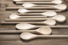 κουτάλια ξύλινα Στοκ φωτογραφίες με δικαίωμα ελεύθερης χρήσης