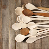 κουτάλια ξύλινα Στοκ Εικόνες