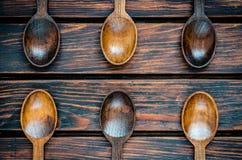 κουτάλια ξύλινα Στοκ εικόνες με δικαίωμα ελεύθερης χρήσης