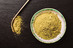 Κουτάλι για το τσάι matcha και το πράσινο pouder Στοκ φωτογραφίες με δικαίωμα ελεύθερης χρήσης