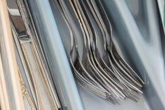 Κουτάλι δικράνων στο συρτάρι Στοκ Φωτογραφίες