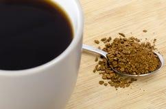 Κουτάλι και κούπα του coffe Στοκ Εικόνες