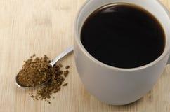Κουτάλι και κούπα του coffe Στοκ φωτογραφίες με δικαίωμα ελεύθερης χρήσης