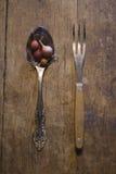 Κουτάλι με το κρεμμύδι Στοκ εικόνα με δικαίωμα ελεύθερης χρήσης