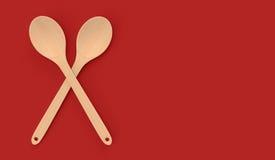 κουτάλι ξύλινο Στοκ φωτογραφία με δικαίωμα ελεύθερης χρήσης