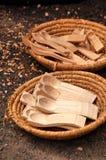 κουτάλι ξύλινο Στοκ Φωτογραφίες