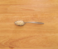 Κουτάλι του άσπρου ρυζιού Στοκ Φωτογραφία