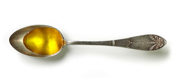 Κουτάλι του λαδιού μαγειρέματος Στοκ εικόνες με δικαίωμα ελεύθερης χρήσης