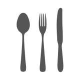 κουτάλι τρία μαχαιριών κουζινών δικράνων εργαλεία Στοκ εικόνες με δικαίωμα ελεύθερης χρήσης