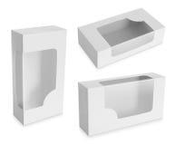 Κουτί από χαρτόνι με ένα διαφανές πλαστικό παράθυρο Στοκ Φωτογραφία