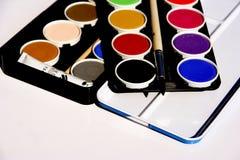 κουτί χρωμάτων Στοκ Εικόνες