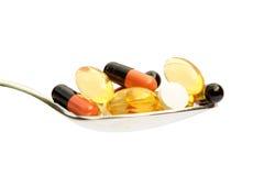 κουταλιά φαρμάκων Στοκ φωτογραφία με δικαίωμα ελεύθερης χρήσης