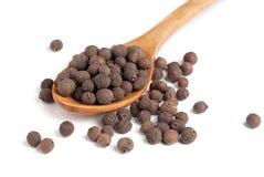 Κουταλάκι του γλυκού του μαύρου πιπεριού Στοκ φωτογραφία με δικαίωμα ελεύθερης χρήσης