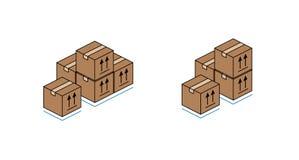 Κουτιά από χαρτόνι που απομονώνονται στην άσπρη ανασκόπηση Στοκ Φωτογραφία